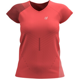 Compressport Performance SS Tshirt Women, coral